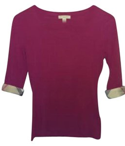 Burberry Clothing T Shirt Red