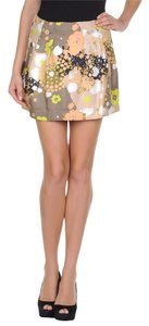 See by Chlo Mini 100% Silk Mini Skirt Multi-Color
