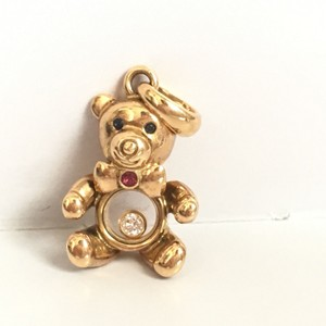 Chopard Chopard 18k Yellow Gold Happy Diamonds Teddy Bear Pendant Charm