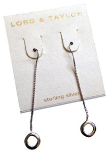 Lord & Taylor Sterling Silver drop earrings