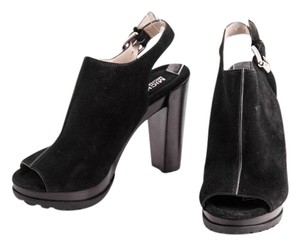 Michael Kors Suede Chunky Heel Ankle black Boots