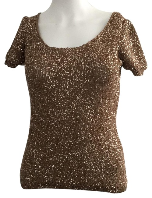 Roberto Collina Sequin Gold Top Roberto Collina Sequin Gold Top Image 1