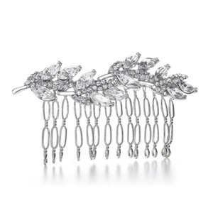 Mariell Prom Or Bridesmaids Comb With Crystal Leaves 3300hc