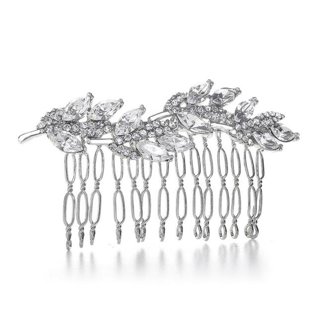 Item - Silver Prom Or Bridesmaids Comb with Crystal Leaves 3300hc Hair Accessory