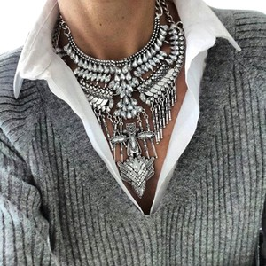 Luxe Glass Crystal Statement Necklace