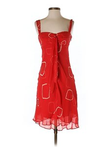 BCBGMAXAZRIA short dress Red Silk Tie Dye on Tradesy