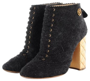 Chanel Bootie Black Boots