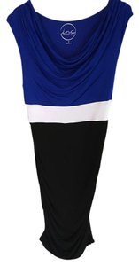 INC International Concepts short dress Blue on too, white band, black on bottom on Tradesy