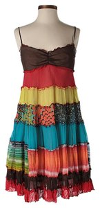 BCBGMAXAZRIA short dress Silk Multi Print on Tradesy