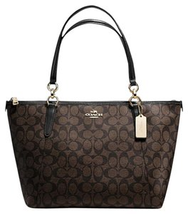 Coach Next Day Shipping Tote in Brown / Black