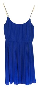 Suzi Chin for Maggy Boutique short dress Indigo blue with gold straps on Tradesy