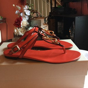 Burberry Bright Coral Sandals