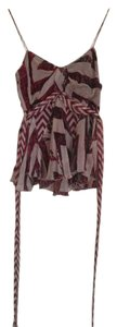 Diane von Furstenberg Silk Top red and beige