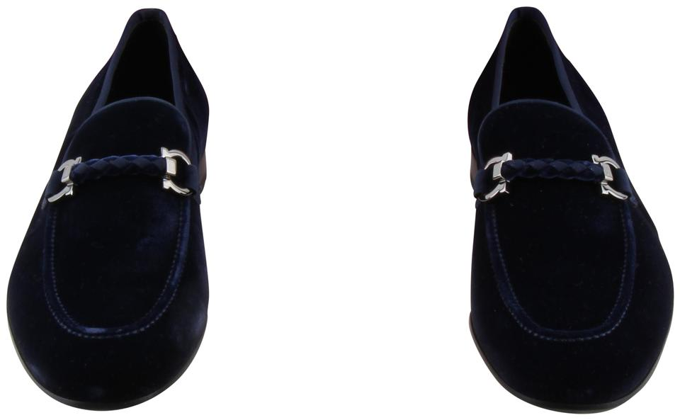 69ffa21c83e65 Salvatore Ferragamo Blue Lord 2 Loafer Navy Velvet Mens Formal Shoes ...