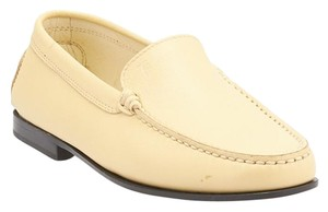 Tod's Loafers Leather Yellow Formal