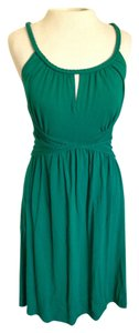 Max Studio short dress Teal Jersey Summer on Tradesy