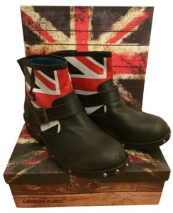 London Rebel Black Boots