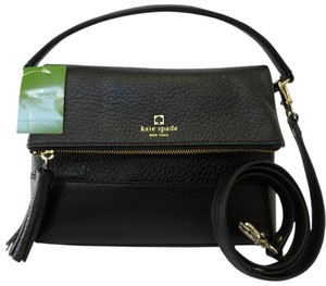 Kate Spade Pebbled Leather Hardware Classic Satchel in Black, Gold