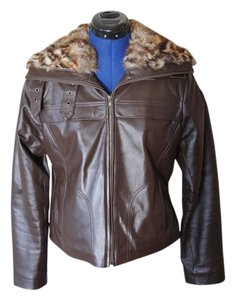 Wilsons Leather Fur Collar Motorcycle Motorcycle Jacket