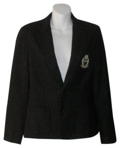 Ralph Lauren Jacket Wool Polyester Gray Blazer