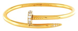 Cartier Juste Un Clou 18k Yellow Gold Diamond Bracelet Size 16