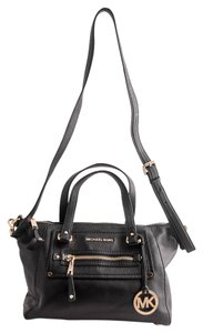 Michael Kors Leather Satchel in Black
