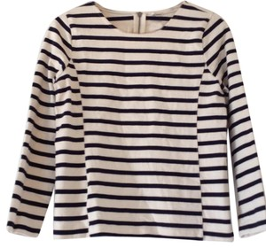 J.Crew T Shirt Navy and Cream