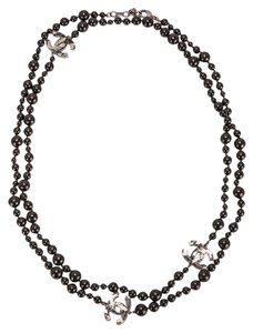 Chanel Chanel Black Around The World Map Extra Long Sautoir Necklace