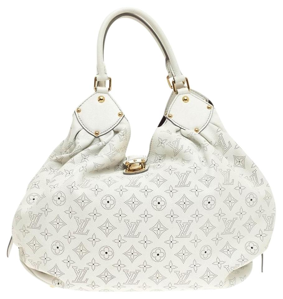 bf9bc3a7f2af Louis Vuitton Mahina Xl White Leather Hobo Bag - Tradesy