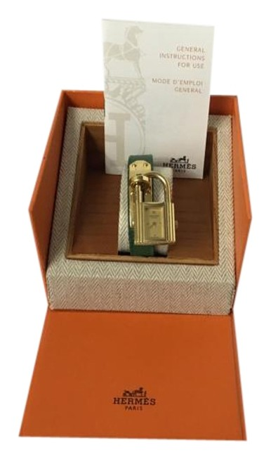Item - Green / Gold Kelly Box With Watch