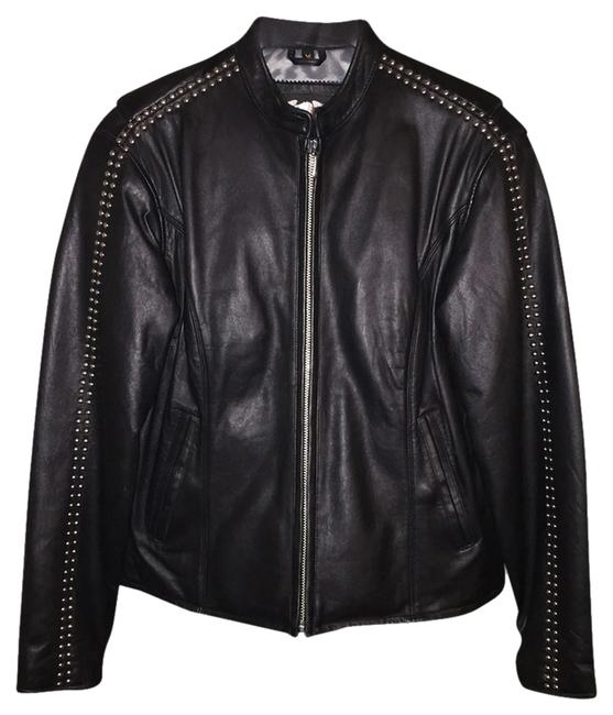 Item - Black with Silver Studs Jacket Size 10 (M)