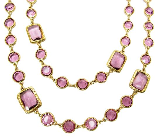 Preload https://img-static.tradesy.com/item/16696381/chanel-lavender-vintage-crystal-chicklet-gold-plated-sautoir-necklace-0-1-540-540.jpg