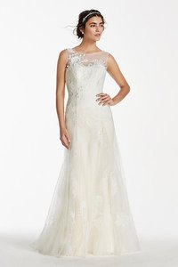 Melissa Sweet Melissa Sweet Tank Tulle Wedding Dress With Beads Wedding Dress