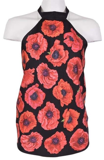 Item - Multi-color Floral Silk Halter Top Size OS (one size)