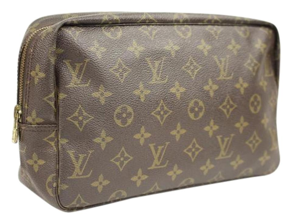 f57299e836c6 Louis Vuitton Coated Canvas Make Up Cosmetic Travel Case Pouch LVTY62 ...