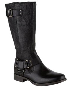 UGG Australia Damien Leather Tall Black Boots