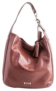 Coach Croc Embossed Leather Hobo Bag