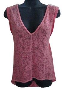 Victoria's Secret Burnout Hi Lo Casual Summer Top Pink