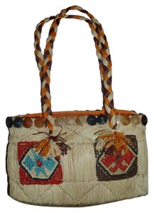 Other Lightweight Structured Bohemian 70s Rare Satchel in neutral