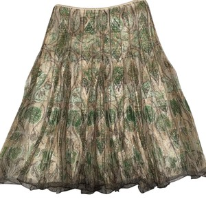 Elie Tahari Skirt Multi-shades of green