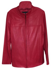 Marc New York Red Leather Jacket
