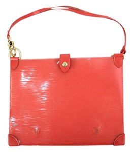 Louis Vuitton Patent Leather Clear Lagoon Plage Red Clutch