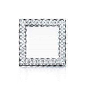 Tiffany & Co. Woven Crystal Platter Tray With Box