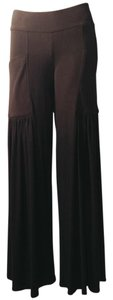 Tangerine NYC Palazzo Athleisure Relaxed Wide Leg Pants black