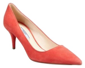 Prada Suede Pointy Toe red Pumps