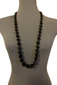 Other Black Multi-Faceted Necklace