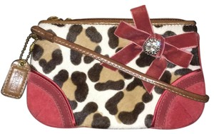 Coach Wristlet in Pink And Animal Pattern