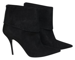 Dior Suede Pointy Toe Zip Black Boots