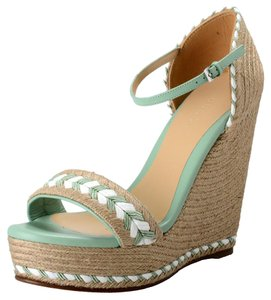 Gucci Green Plant Wedges