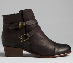 Joie Leather Ankle Strap black Boots